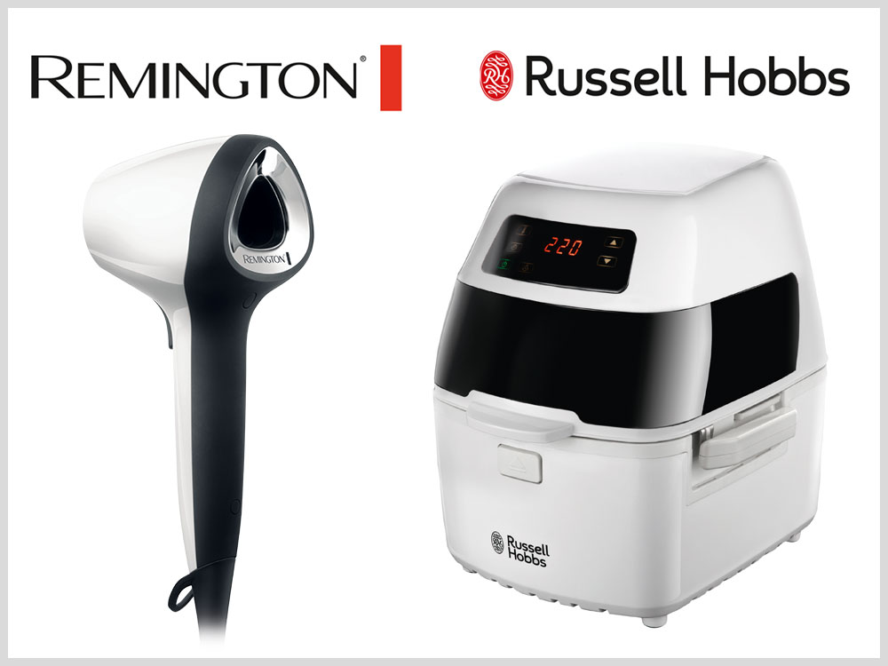 Remington Air3D Haartrockner D7779 und Russell Hobbs Cyclofry Plus Heißluft-Fritteuse 22101-56