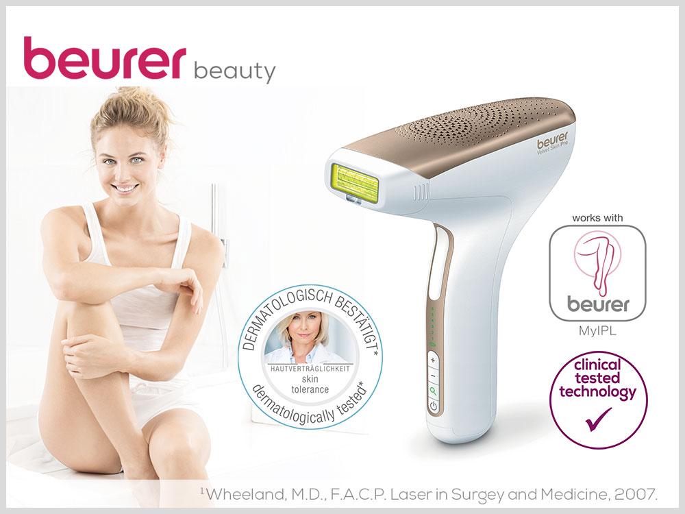 IPL Velvet Skin Pro für dauerhafte Haarentfernung