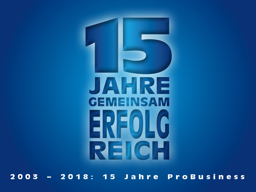 15 Jahre Marketing-Initiative ProBusiness