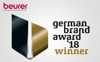 German Brand Award 2018: Beurer zum 2. Mal als erfolgreiche Marke ausgezeichnet