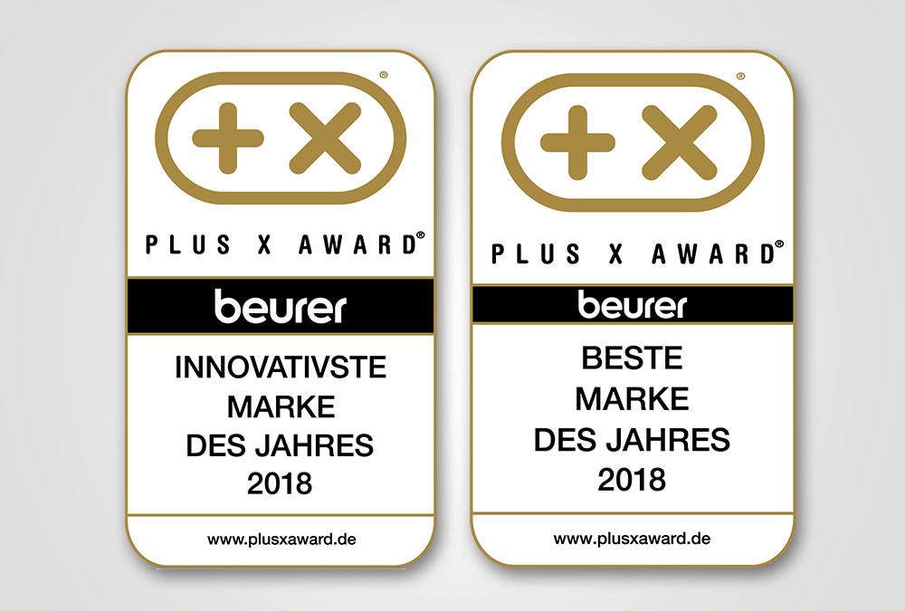 Beurer: Doppelpack beim Plus X Award (Signets)