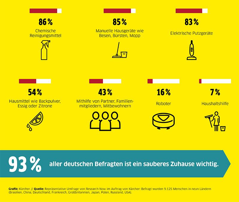 Welche Helfer werden in Deutschland beim Putzen eingesetzt?