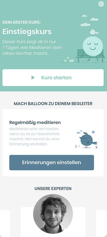 Die neue Meditations-App Balloon von Gruner + Jahr