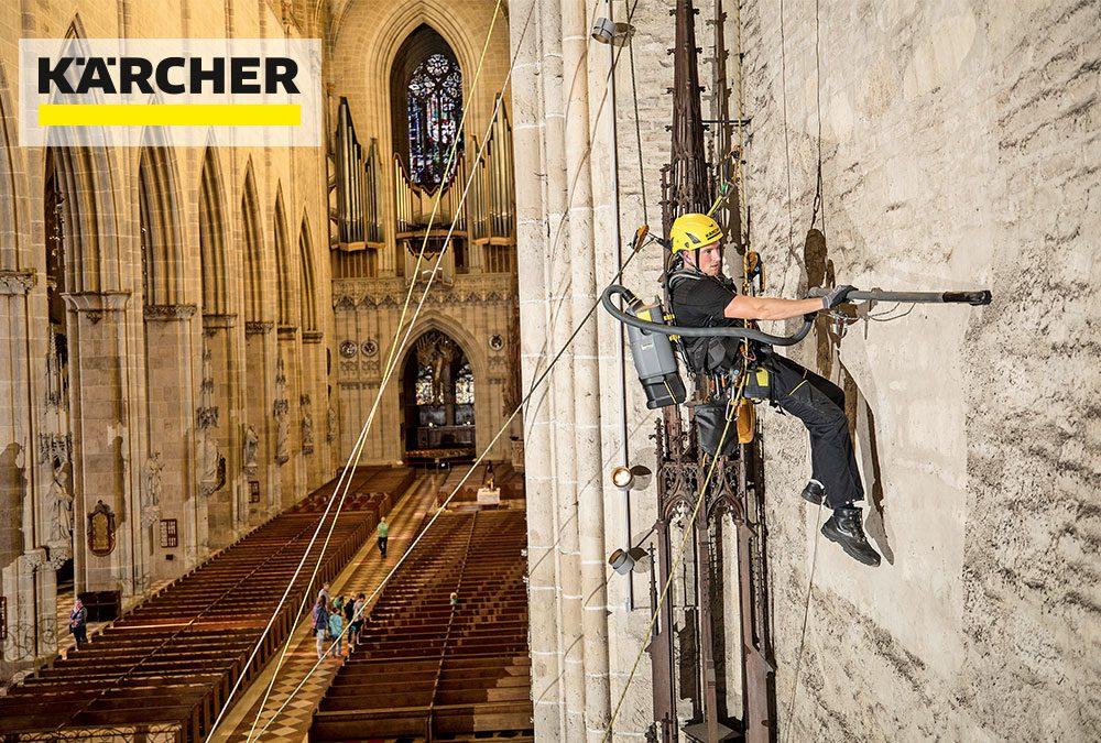 Kärcher reinigt den Chorraum des Ulmer Münsters