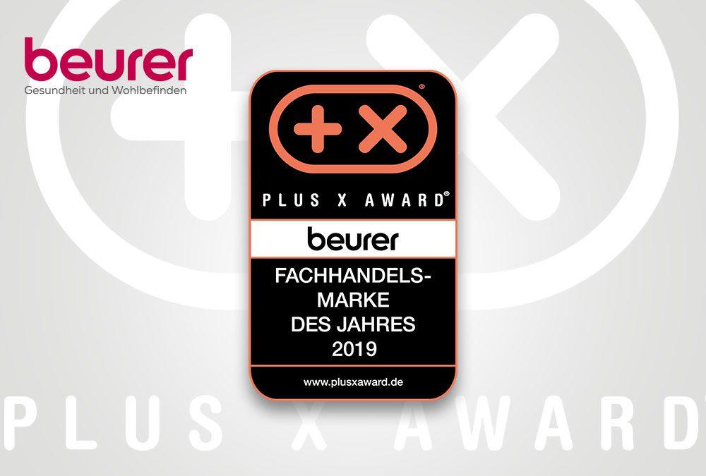 Beurer zum vierten Mal Fachhandelsmarke des Jahres beim Plus X Award