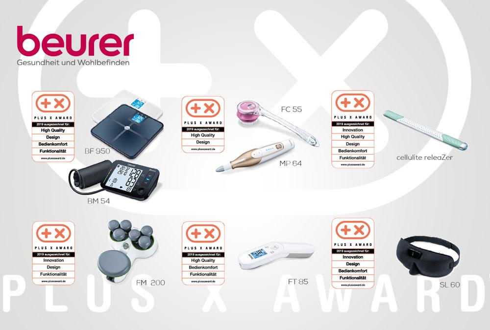 Preisregen für Beurer: Acht Produkte vom Plus X Award ausgezeichnet