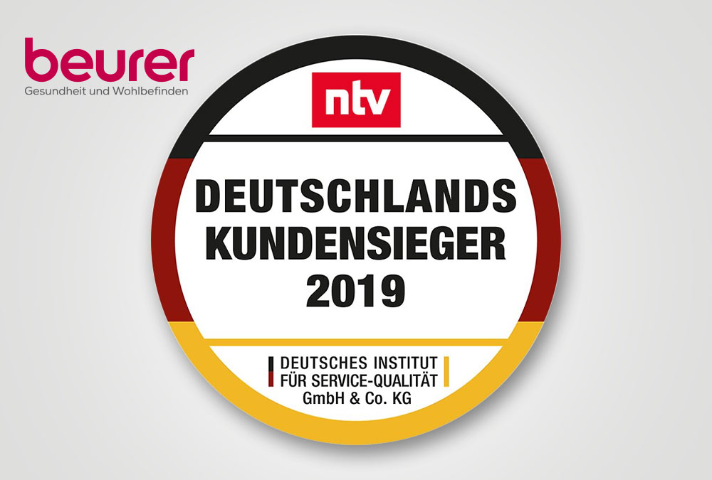 "Beurer wird ""Deutschlands Kundensieger 2019"""