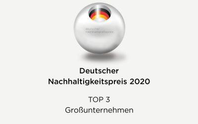 Deutscher Nachhaltigkeitspreis 2020: Kärcher unter den Top Drei