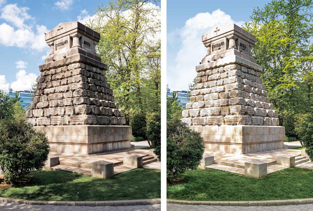 Vor und nach der Reinigung: Der Effekt ist deutlich sichtbar.