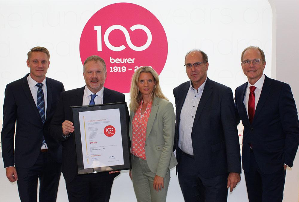 v.l.n.r.: Sebastian Kebbe, Markus Bisping, Kerstin Glanzer, René Efler und Georg Walkenbach