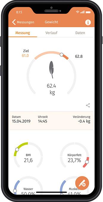 """Die """"beurer HealthManager"""" App ermöglicht ein modernes und innovatives digitales Gesundheitsmanagement."""