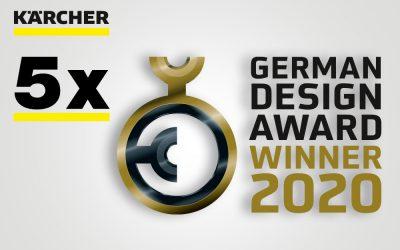 German Design Award 2020: Fünf Kärcher-Produkte ausgezeichnet