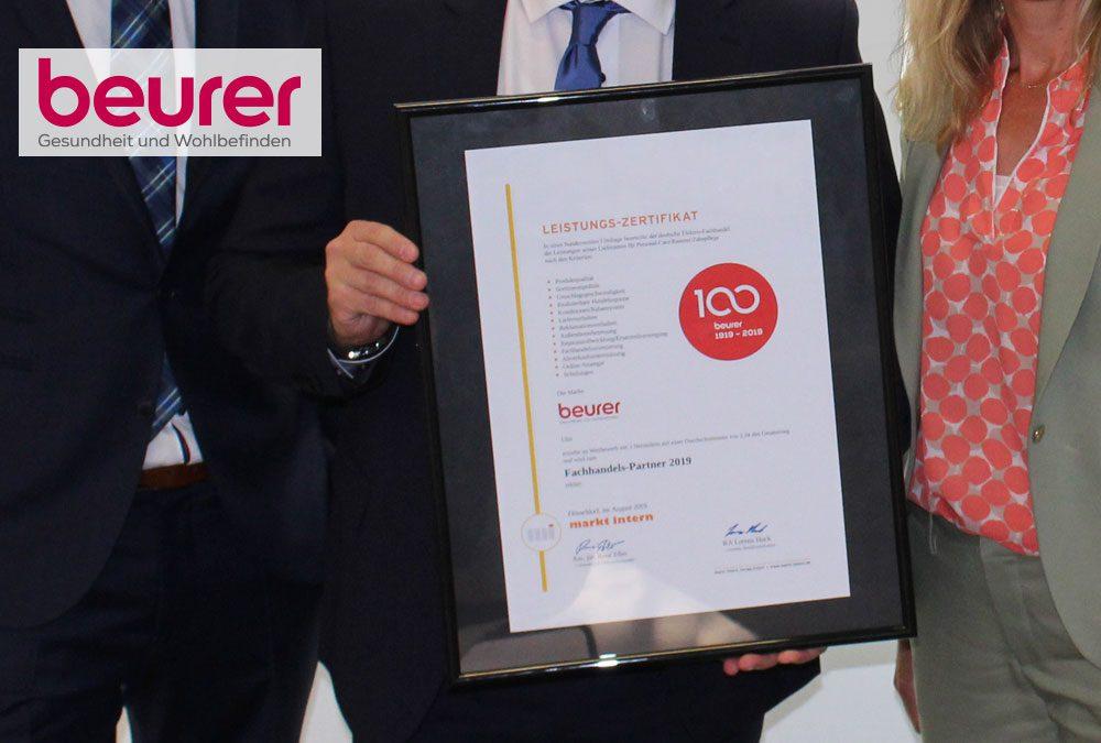 Beurer zum fünften Mal in Folge zum verlässlichen Fachhandelspartner gewählt