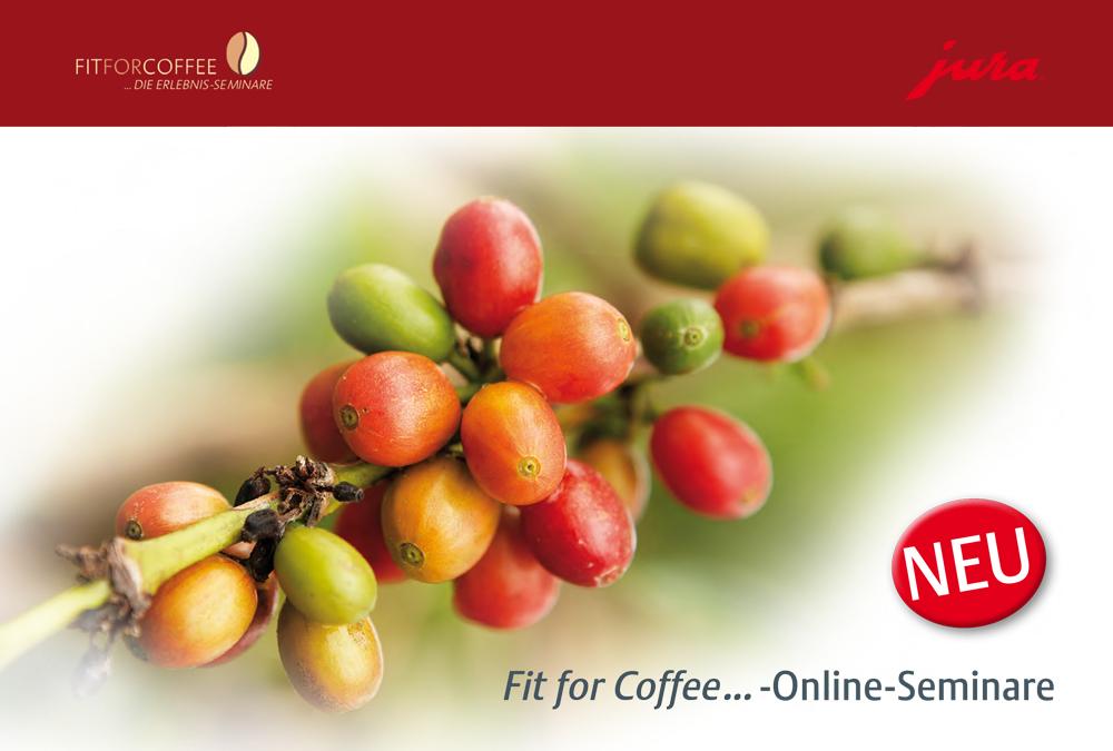JURA: Einladung zur Fit for Coffee…-Online-Seminar-Reihe