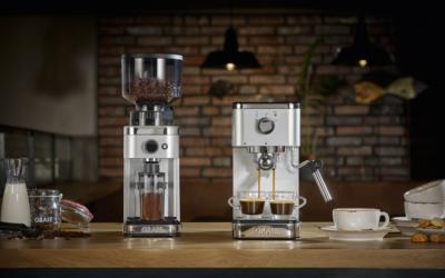 GRAEF Espressomaschine salita und Kaffeemühle CM 500 jetzt in der Farbe Silber erhältlich