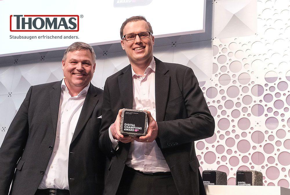 THOMAS mit Digital Champions Award 2019 ausgezeichnet