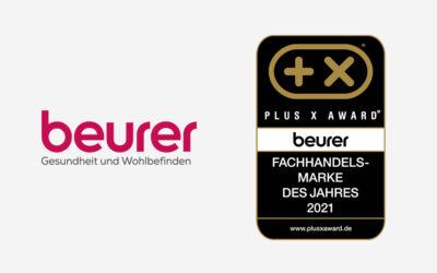 """Verlässlicher Partner des Fachhandels – Beurer ist erneut """"Fachhandelsmarke des Jahres"""" beim Plus X Award"""