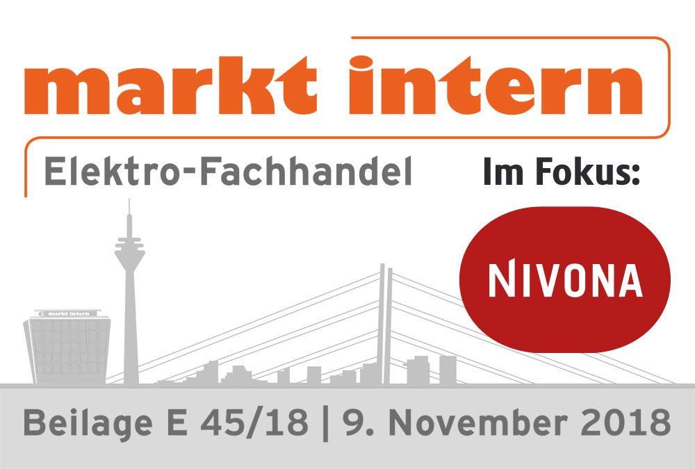 """Im Fokus bei """"markt intern"""": Nivona"""