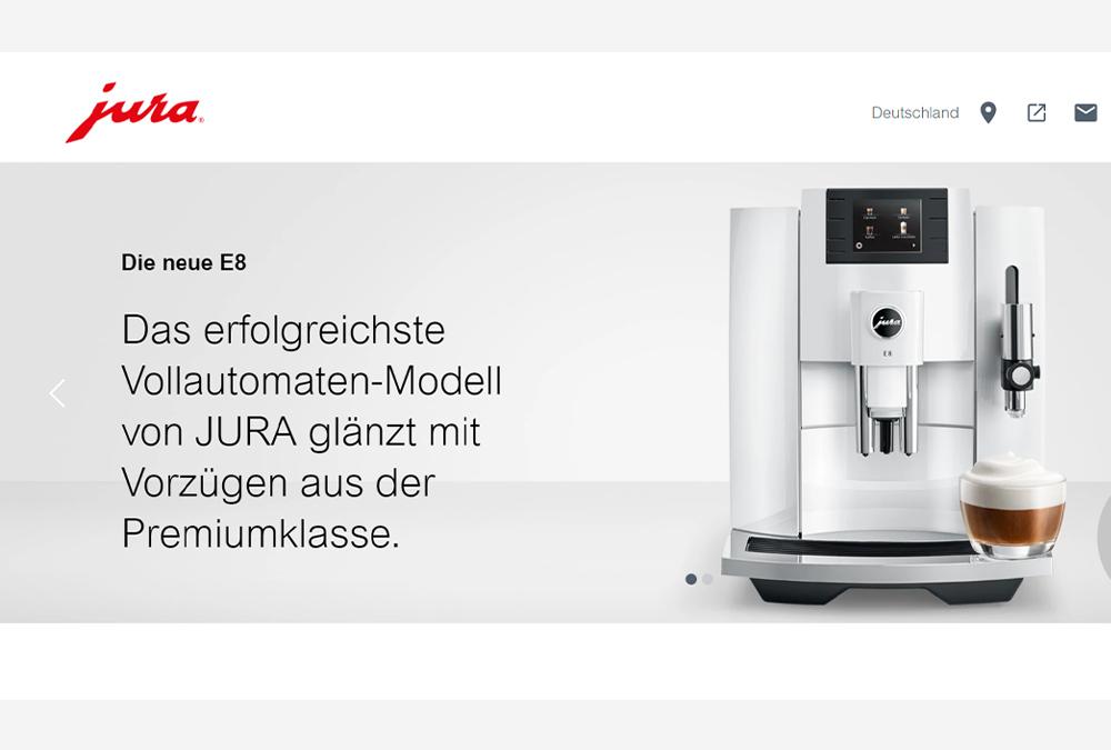 Willkommen bei de.jura.com: JURA mit neuem Webseiten-Design