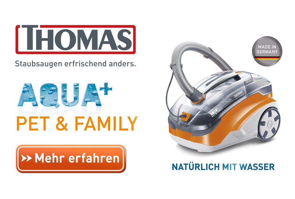 Der Staubsauger für Tierhaare – THOMAS Aqua+ Pet & Familiy